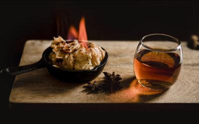 Chongos Zamoranos flameados con Brandy o Cognac
